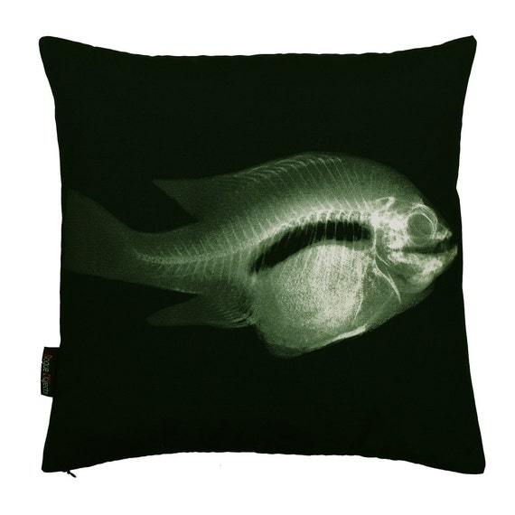 Fish X-Ray pillowcase (no insert)