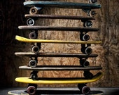 11 x 14 photograph of vintage skateboards