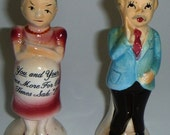 Comical Vintage Salt and Pepper Shakers