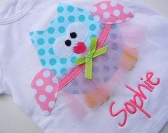 Ballerina Owl Applique TShirt  Exclusive