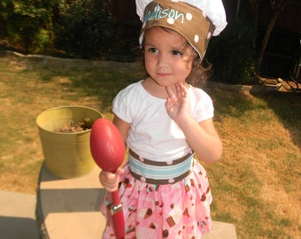 Chef Hat and towel Apron Set for Children or Adults