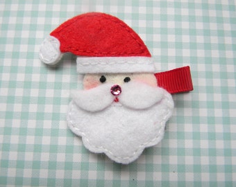 Santa Claus Felt Clippie