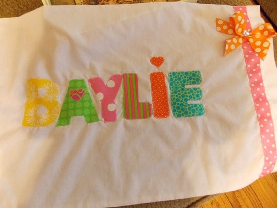 Personalized Pillowcases-School Names Summer Camp Slumber parties Birthday parties