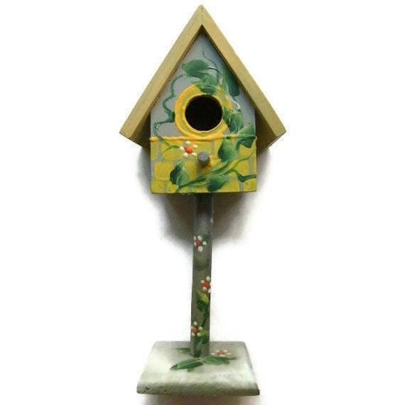 Yellow Bird House Indoor 8 1/2 inches high