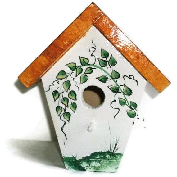 Bird House Handmade - Hand Painted Bird House -  BirdHouse