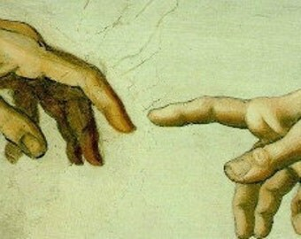 The Creation of Man (detail) - Cross stitch pattern pdf format