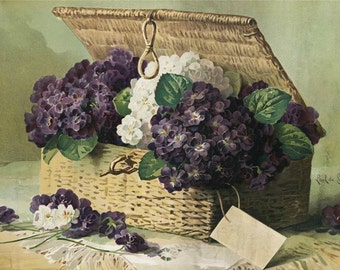 Basket of Lilacs - Cross stitch pattern pdf format