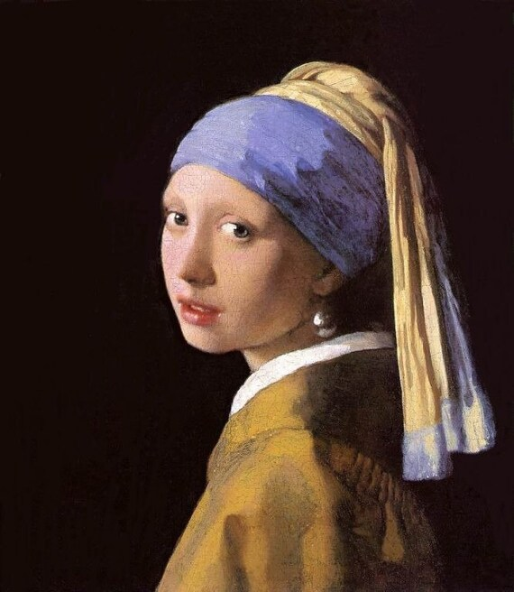 Girl with a Pearl Earring - Cross stitch pattern pdf format