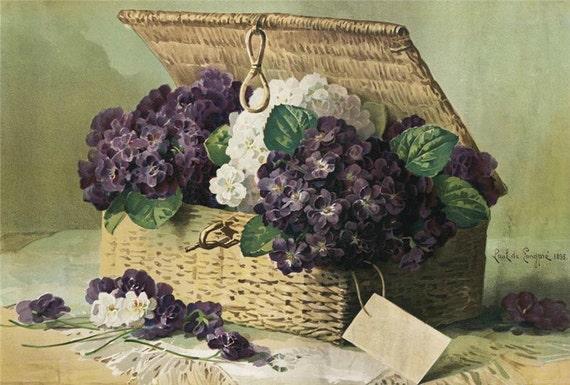 Basket of Lilacs - Cross stitch pattern pdf format