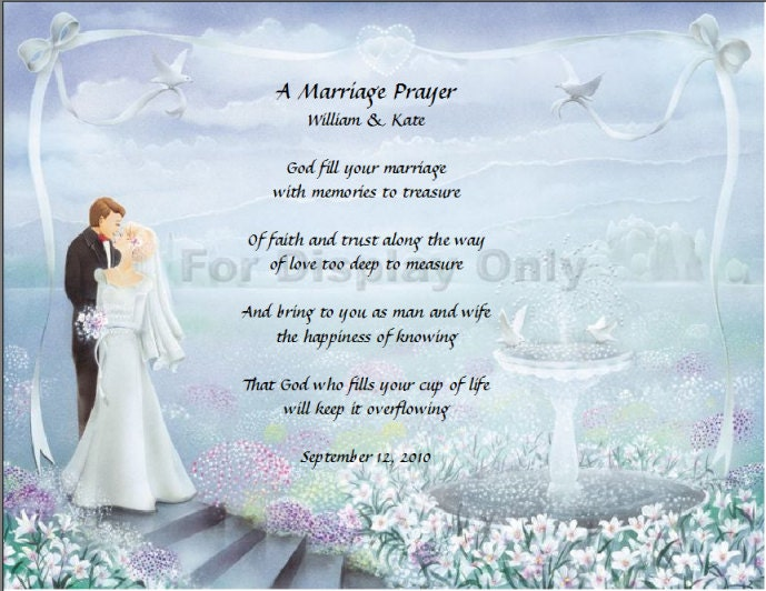 Poems For Children To Read At Weddings: A Marriage Prayer Poem God Fill Your Marriage With