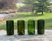 recycled glass tumblers from wine bottles, set of 4 tall