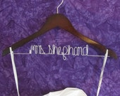 Bridal Shower Gift - Personalized Wedding Dress Hanger - Unique Bridesmaid Gift - Available in Walnut or Maple Wood