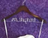 Wedding Hanger, Personalized Hanger, Mrs. Hanger, Bride Hanger, Wedding Dress Hanger