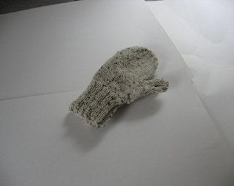 Handmade Mittens Large Child Aran Fleck