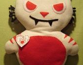 """Red Cat Pillow Monster """"Joe"""""""