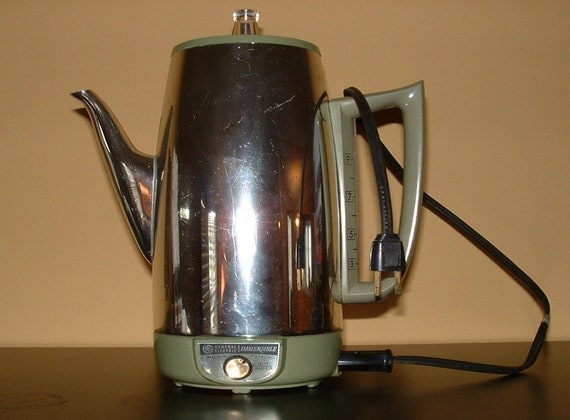 Vintage 70s GE Percolator Electric Coffee Maker