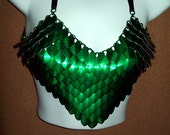 chainmaille, bra, bikini, fantasy armor, scale, scalemail, shirt, bellydance, tribal, Elven, ranger, fairy, warrior, dragon, costume