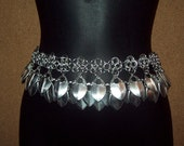 Reserved, 2 handflowers and scale belt.  Chainmaille, scalemail.
