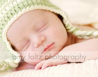Striped Earflap Newborn-Adult Sizes