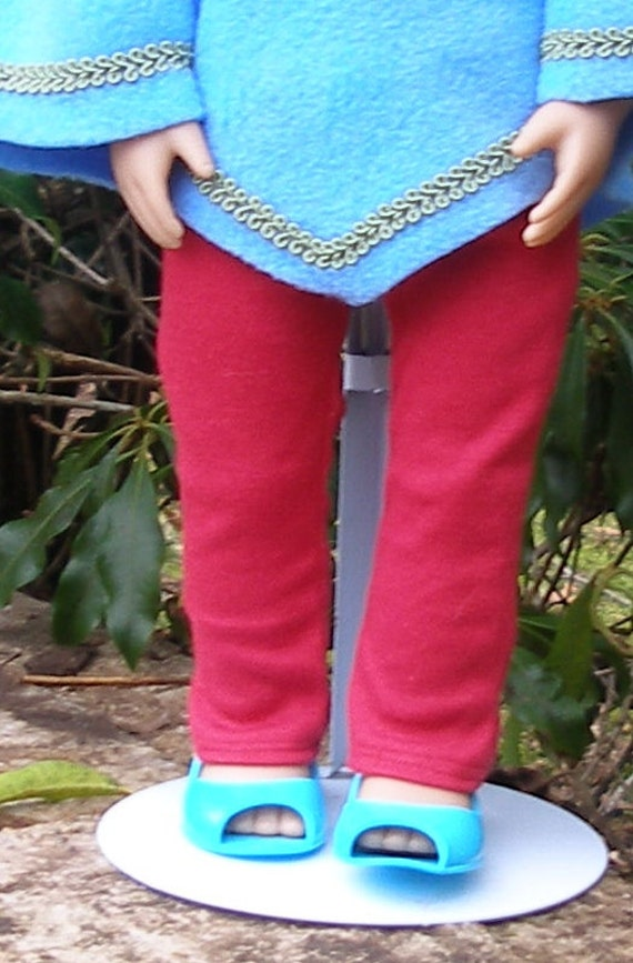 Red Jersey Knit Stretch Pants for American Girl Dolls
