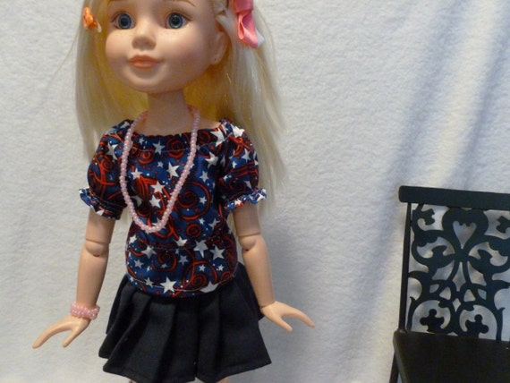 4th of July Peasant Shirt for 18 inch BFC Ink Dolls