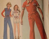 "Girls' Jumpsuit Pattern   Simplicity 7949   Size 7-8 Chest 26-27"" Waist 23-23 1/2""   FREE SHIPPING"