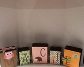 Circo Love and Nature Name Blocks