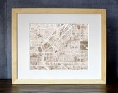 Denver Colorado Watercolor Map Print 8x10