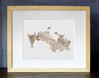 Aspen Colorado Watercolor Map Print 8x10