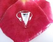 Handmade Unique Contemporary Sassy Shield Ring