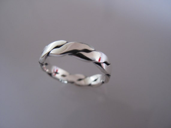 Handcrafted Sterling Silver  Flat Celtic Ring