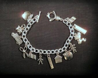School Days Charm Bracelet- the perfect teacher gift