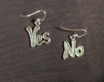 What's the Answer Yes or No Earrings