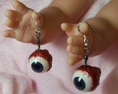 Real looking eyeball dangle earrings
