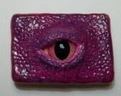 pink purple fantasy lizard dragon eye magnet fantasy lovers gift unusual office accessory abstract art magnet eye magnet fantasy dragon eye