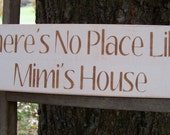 Mimi Distressed Wood Sign There's No Place Like Mimi's House