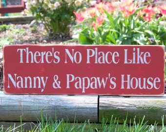 Custom Sign Any Two Names Great for Grandparents There's No Place Like