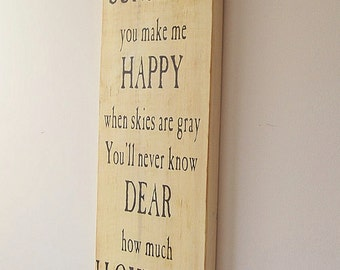 You Are My Sunshine Large Wood Sign Distressed Finish
