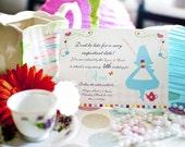 Classy Fun Set - Alice in Wonderland Invitation (Printable)