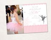 Snowflake Ballerina Invitation w/ photo - Printable (DIY)