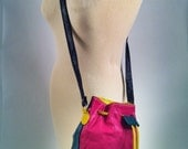 Colorful leather vintage Bag