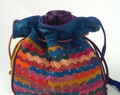 1980s colorful leather bag