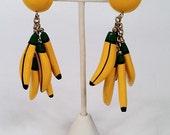 80's were bananas earrings-CLIP-ONS