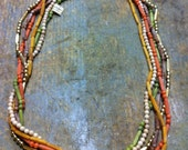 Color Plastic Layer Necklaces in Fun Colors late 80s