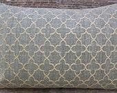 3BModliving Designer Pillow Cover 12 x 18  - Dita Stone Blue