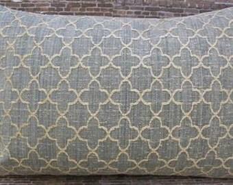 3BModliving Designer Pillow Cover 12 x 16  - Dita Stone Blue