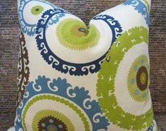 SALE Designer Pillow Cover 10 x 20, 12 x 16, 12 x 18, 12 x 20, 16 x 16  - Outdoor - Wolfram Cabana