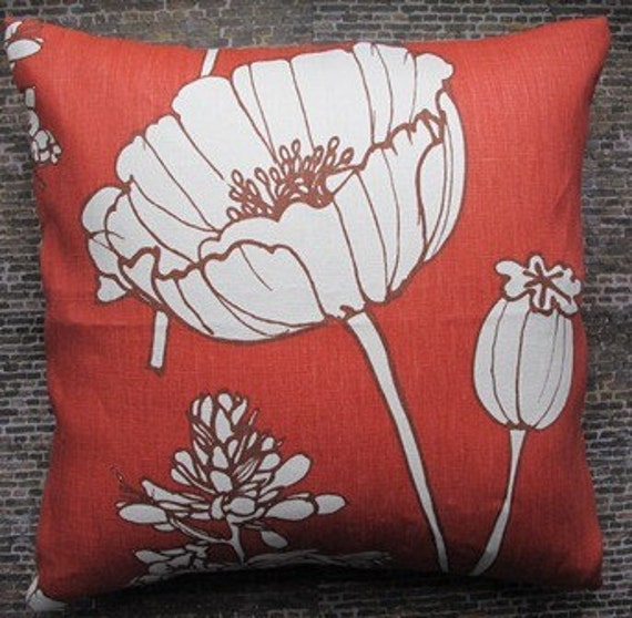 Designer Pillow Cover - 18 x 18 - Thom Filicia Poppyfield