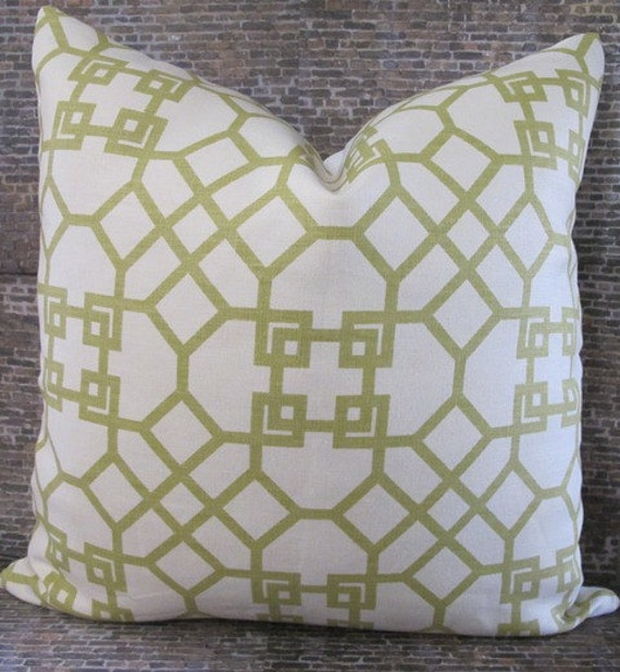 Designer Pillow Cover 18 x 18-  Windsor Smith - Pelagos Green