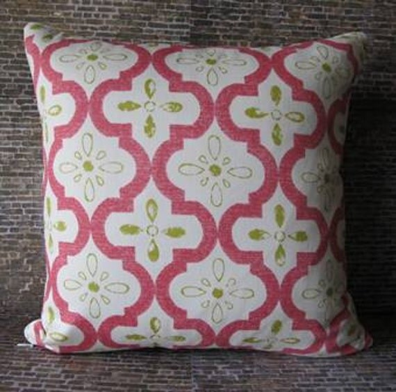 Designer Pillow Cover - Moroccan Fushia - 16 x 16